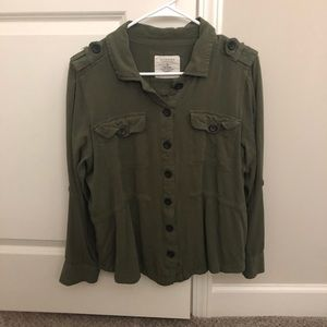 Green army style jacket